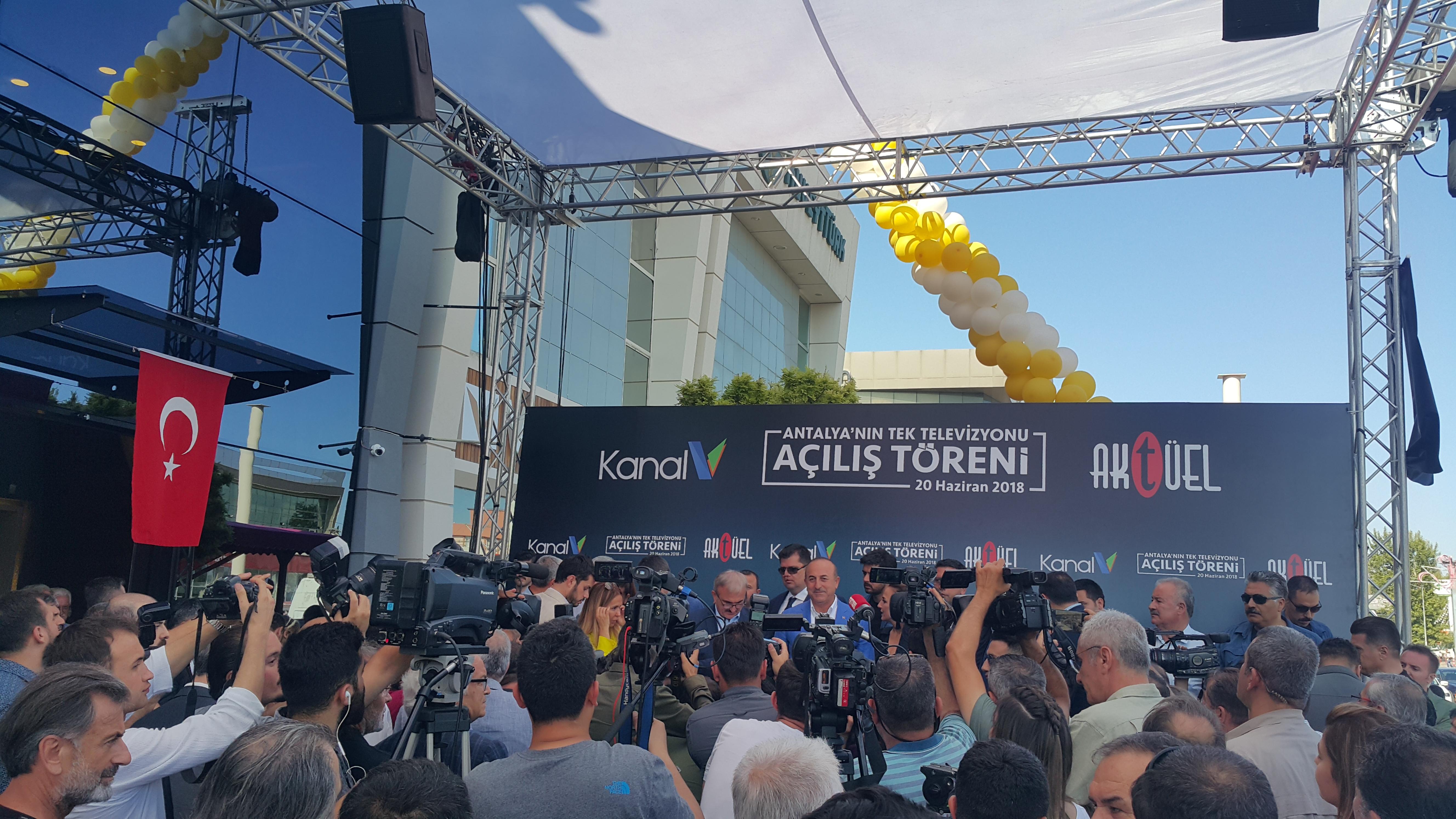 Antalya'nın tek TV kanalı açılış törenine katıldık